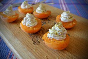 dessert di albicocche